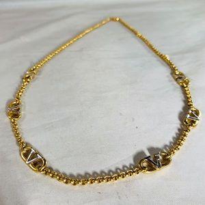 VALENTINO Multicolor V Necklace